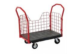 Xe đẩy đồ bằng nhựa có bánh xe TPR 8″, OEASY 4465BK 1