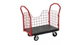 Xe đẩy đồ bằng nhựa có bánh xe TPR 8″, OEASY 4465BK 2