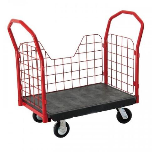 Xe đẩy đồ bằng nhựa có bánh xe TPR 8″, OEASY 4465BK