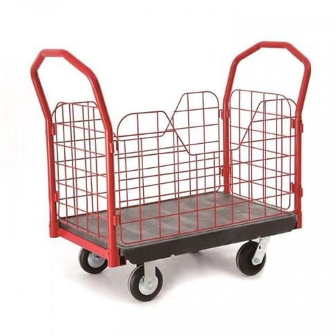 Xe đẩy đồ bằng nhựa có bánh xe TPR 6″, OEASY 4461BK